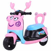 新款电动早教儿童摩托车卡通电动摩托车可坐人儿童玩具车大号电池三轮童车可坐电瓶车