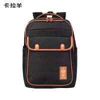 卡拉羊双肩包学院风男女学生书包大容量休闲旅行背包防泼水电脑包CX5968