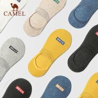 Camel/骆驼潮流短袜男棉质硅胶防滑浅口袜防臭吸汗隐形船袜6双装