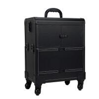kuansen直营精选大容量化妆箱拉杆美容万向轮跟妆师拉杆箱多层美甲纹绣工具箱