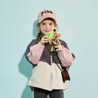 【春新品2件4折:135】巴拉巴拉旗下巴帝巴帝儿童风衣外套男童女童工装风宽松上衣2020春季新款潮