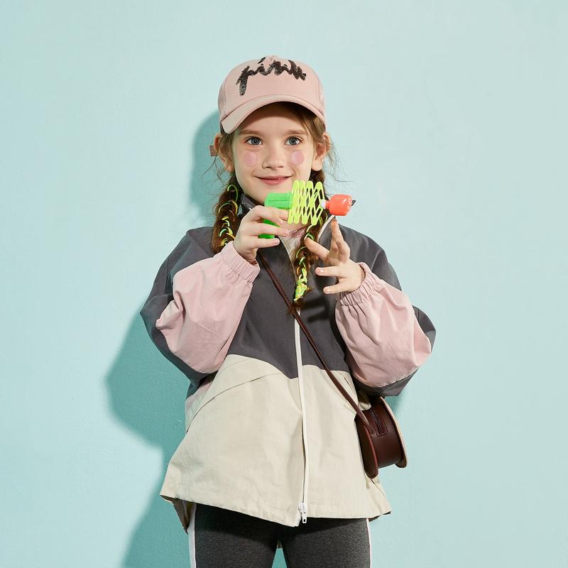 【2件3折:114.9】巴拉巴拉旗下巴帝巴帝儿童风衣外套男童女童工装风宽松上衣2020春季新款潮