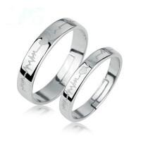 情侣戒指女一对男士纯银对戒子创意日韩版银戒指