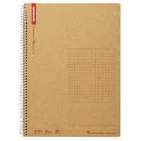 日本maruman美乐麦|spiral牛皮纸封面螺旋笔记本 记事本 方格本B5