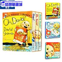 英文原版绘本0 3岁 oops Oh, David smells 大卫纸板书 全3册盒装 David Shannon