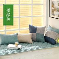 现代亚麻飘窗垫子窗台垫阳台垫北欧防滑榻榻米沙发垫