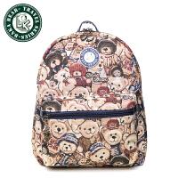 【低价冲销量】大咖熊迷彩休闲背包 韩版小熊包 女包潮161022