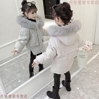 女童冬装2018新款女孩儿童洋气加厚羽绒棉衣中长宝宝棉袄外套