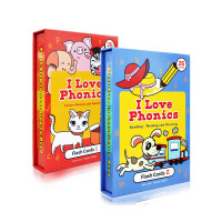 【顺丰包邮】I Love phonics L1-2 自然拼读 幼儿英语启蒙认知学习红盒蓝盒闪卡 0-2-3-4-5岁玩
