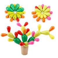 木制拼插积木拆装仙人球仙人掌宝宝幼儿童智力玩具教具1-3-5周岁