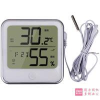 [满68包邮]得力8959电子温湿度计 家用室内闹钟湿度计 办公电子室外高精度温度计