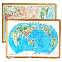 中国 世界地图3d凹凸立体地形图 29乘21厘米 学习教学 直观展示地貌地势星球地图出版社