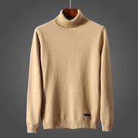 秋冬韩版修身高领毛衣男 男士时尚潮流高领套头修身纯色羊绒毛衫