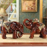 欧式招财大象摆件客厅家居饰品摆设树脂象一对乔迁新居结婚礼物
