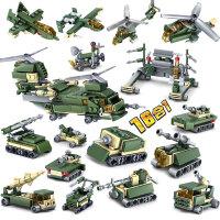 兼容军事积木男孩子拼装坦克智力野战军事部队6-12岁套装玩具