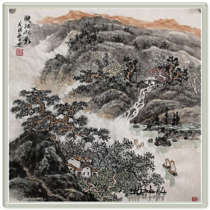 《皖江帆影》高松-中国美院,江苏美协会员R高松4