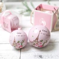 欧式创意喜糖盒批发马口铁盒抖音礼物圆球糖果包装盒结婚礼盒小号