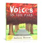 顺丰发货 英文原版进口 Voices in the Park 公园里的声音(当乃平遇上乃萍)安东尼布朗绘本 儿童益智启