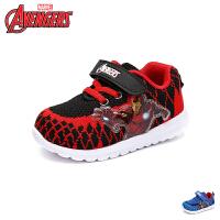 【99元任选2双】迪士尼Disney童鞋18新款儿童运动鞋漫威英雄男童学生鞋织布透气休闲鞋 (2-6岁可选) VA35