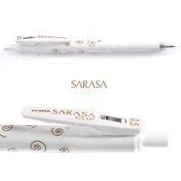 限定日本斑马ZEBRA中性笔�ㄠ�笔JJ15按动水笔 0.5新款黑色考试笔sarasa笔复古色熊本熊