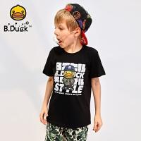 【4折价:103.6】B.duck小黄鸭童装男童短袖T恤夏季新款潮童纯棉半袖上衣BF2002389