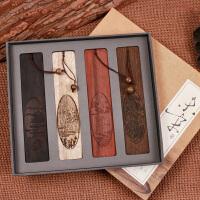 联盟古风筑景中国风木质红木书签 古典高档商务礼品礼盒装 古风创意复古
