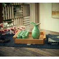 创意中式青云樽白酒酒具套装仿古青瓷酒杯陶瓷酒壶家用
