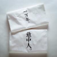 夏季简约情侣短袖T恤潮修身个性大码半截袖学生班服