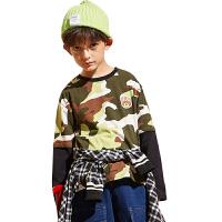小虎宝儿男童长袖t恤春装2020新款儿童洋气打底衫中大童韩版童装