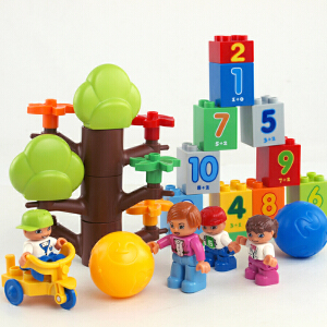 惠美 开心幼儿学园 大颗粒积木塑料益智拼装男孩女孩早教智力玩具