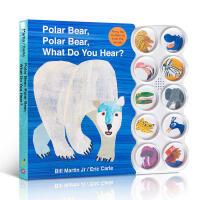 英文原版绘本 Eric Carle:Polar Bear, What Do You Hear? 北极熊,你听到了什么?