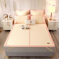 黄古林日本和草席1.8m床三件套1.5米可折叠加厚空调双人床凉席