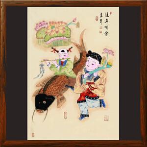 《连年有余》张一娜 传统年画系列【R2429】