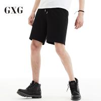 GXG短裤男装 夏季男士时尚青年潮流气质都市黑色修身休闲短裤男