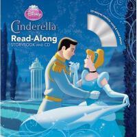 英文原版儿童书 Cinderella Read-Along Storybook and CD 灰姑娘2(书+CD) 有