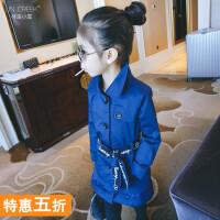 女童外套2018新款韩版儿童女宝宝秋冬装中大童装斗篷衣服秋装风衣