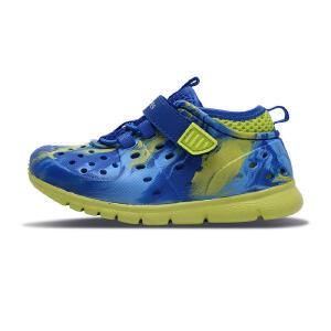 Skechers斯凯奇男童鞋小童包头凉鞋 疏水轻质沙滩鞋 92811N