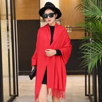 大红围巾刺绣中国红色围巾活动开业年会礼品同学聚会印字