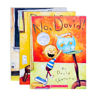 大卫不可以/大卫惹麻烦/大卫上学去No David/David Gets in Trouble/David Goes to School系列进口英文原版绘本全3册