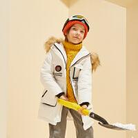 【冬清仓价:215】巴拉巴拉旗下巴蒂巴蒂男童时尚休闲潮流羽绒服