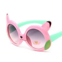 20180528014636659儿童太阳镜男童女童眼镜婴儿眼睛镜可爱卡通宝宝眼镜框小孩墨镜潮 粉红色 小浣熊