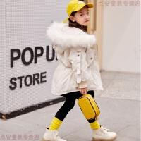 女童羽绒服2018新款儿童冬装韩版中长款女宝宝洋气加厚中大童外套