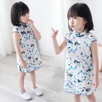 宝宝旗袍夏季小女孩祺袍婴幼儿民族中国风童装儿童唐装女童旗袍裙
