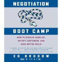 【预订】Negotiation Boot Camp: How to Resolving Conflict