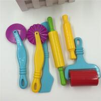 彩泥模具儿童套装手制作粘土diy彩泥压花器男女孩学生橡皮泥工具组合儿童玩具6件套