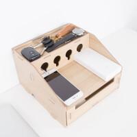 多功能桌面收纳盒电源电线整理收纳 办公用品整理置物架
