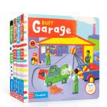 Busy系列交通工具类 英文原版进口 趣味机关操作纸板书纸板书4册 Busy garage繁忙的车库/Railway铁