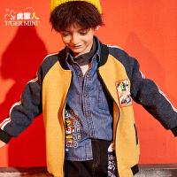 【2件3折到手价:149.7元】小虎宝儿男童短款棉衣2019冬装新款洋气儿童加绒棒球服中大童外套