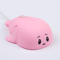 恬心女生鼠标有线 笔记本台式电脑USB小手海豚卡通可爱 官方标配
