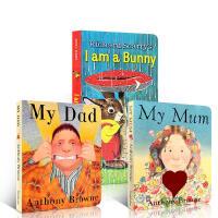 英文原版绘本3册 I Am A Bunny我是一只兔子/My Mum My Dad 我爸我妈纸板书0-3-6岁启蒙情商